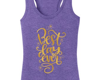 Tangled Best Day Ever tank top Disney shirt ladies woman in plus and misses sizes racerback family vacation epcot disneyland disney world