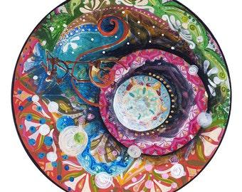 Alicia, mandala of multiple colors
