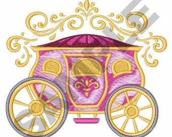 Cinderella Carriage - Machine Embroidery Design