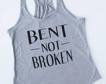 Bent Not Broken Gathered Back Women's Tank Top