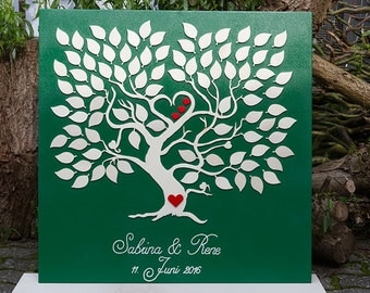Wedding tree marriage tree guestbook fingerprint 3D