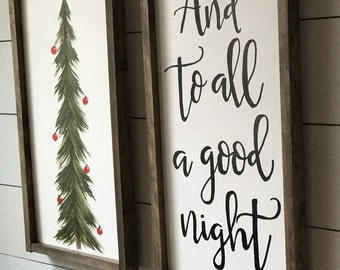 And to all a good night (with christmas tree)