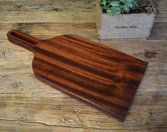 Salvaged Mahogany Cutting Board // Serving Board // Cheese Board // Charcuterie Board