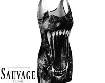 Mad • original Bodycon (skater) dress / be different• Punk shows apparel approved