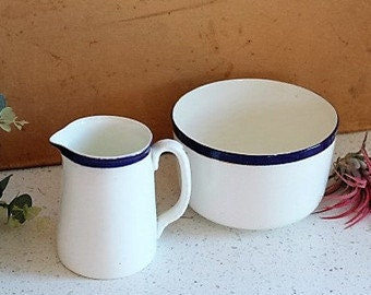 Victorian Sugar Bowl & Jug/ Vintage Sugar Bowls and Creamers/ Vintage China/SALE (0023W)