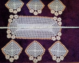 Crochet Tablecloth, Silk Hand Crochet Tablecloth, Crochet Table Cloth, Oval Crochet Tablecloth, Knit Tablecloth, Hand Knitted Tablecloth