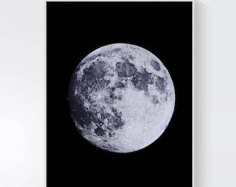 moon print, Full Moon Print, Moon Art Print, Moon Printable, black moon, moon photo, Moon Photography, Moon Printable Art, moon poster