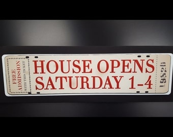 Real Estate Sign Rider Vintage Open House, real estate, signs, riders, open house, home for sale
