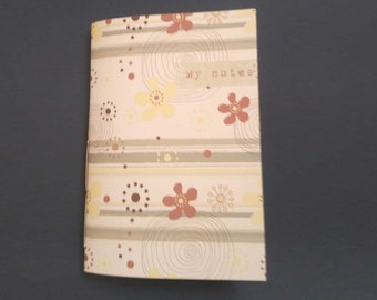Diary notes inventive and recipes cooking textile of paper placemats