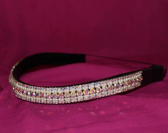 Iridescent & Pearl Bling Browband