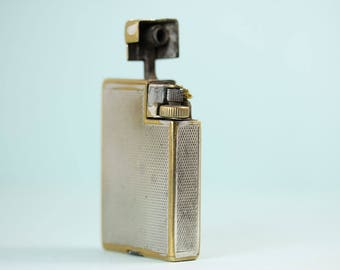 Vintage Dunhill Handy Lighter 1954, pocket lighter, collectable lighter, PetesNeatOldStuff, survivor, Dunhill London, made in Switzerland