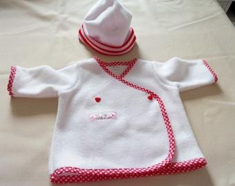 White fleece girl set