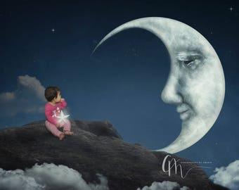 Meet the moon digital background