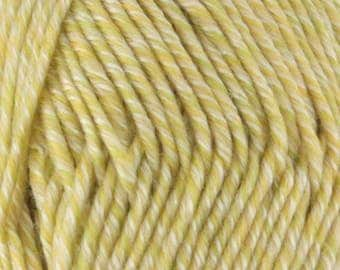 Chunky Melody Keylime Green Yellow Wool Blend Yarn Bulky 100g/skein