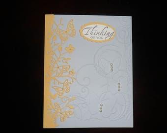 Custom Card, Handmade Thinking of You Card, Handmade Card All Occasion, Card for Her, Custom Sentiment Card