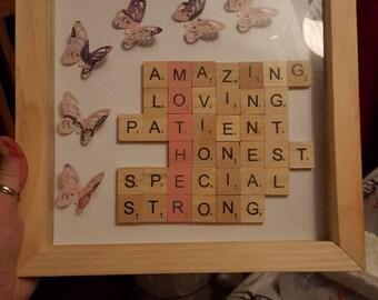 Scrabble letter pictures