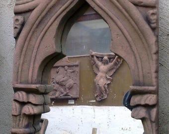F 28 art antique sandstone look mirror Gothic