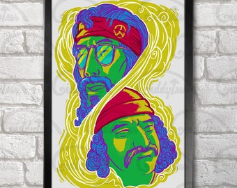 Up in Smoke Poster Print A3+ 13 x 19 in - 33 x 48 cm Cheech and Chong  Buy 2 get 1 FREE