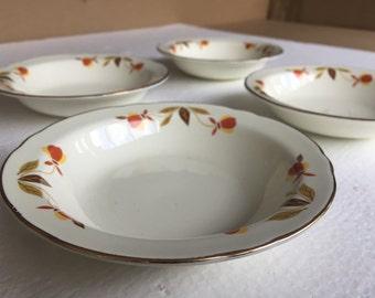 Hall Jewel Tea Autumn Leaf Fruit Bowl Set