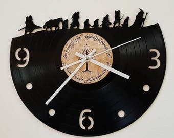 Vinyl Clock, the company sets out, Christmas gift, Wall clock, vinyl record clock, wall clock