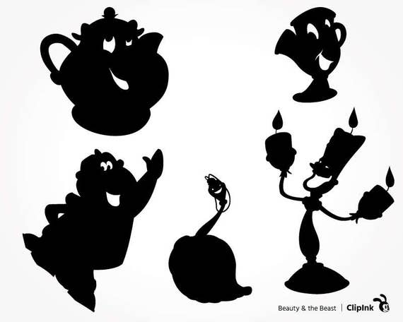 Beast From Beauty And The Silhouette Pictures To Pin On
