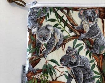 Koala Coin Purse – Zipper Purse – Clutch Bag – Ladies Clutch Purse - Koala Pouch - Koala Purse