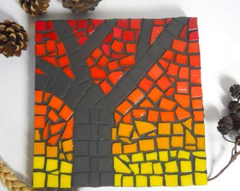 Mosaic Wall Art mini Tree glass mosaic