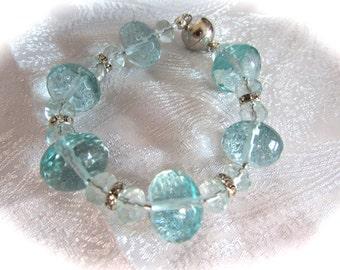 Aqua Rudilated Quartz Bracelet