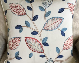 Beautiful embroidered designer pillow cover