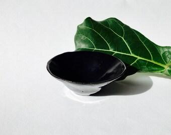 Handmade Japanese style black bowl