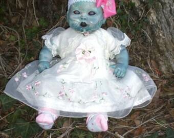OOAK Horror  Zombie. Living/walking dead baby doll.