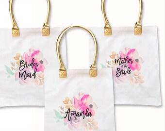 Watercolor Canvas Tote   Bridal Party Tote   Bridal Party Gifts   Bridal Bags   Bridesmaid Proposal Ideals