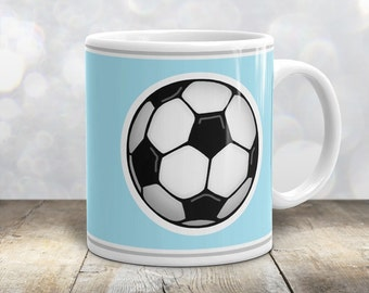 Athletic Soccer Ball Mug - Sports Light Blue - 11oz or 15oz