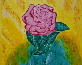 Painting acrylic, pink