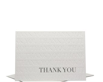 Thank You - Letterpress Greeting Card