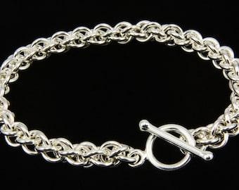Jens Pind Chain Maille Bracelet, Jens Pind Weave Bracelet, Jens Pind Bracelet, Chain Maille Bracelet, Sterling Silver Bracelet, Chain Maille