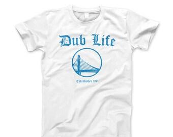 Unique Dub Life Warriors Distressed T-Shirt Curry Durant