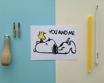Card snoopy you and me