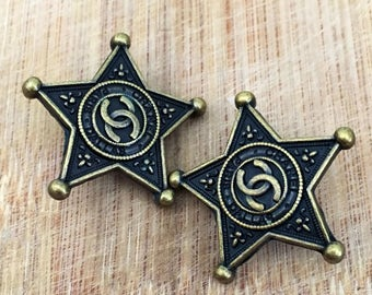 Chanel Star Buttons