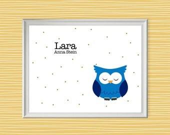 Owl Name Sign, Owl Wall Art, Owl Room Sign, Owl Wall Decor, Printable Owl, Owl Room Decor, Owl Poster, Kids Room Decor, Toddler Wall Art