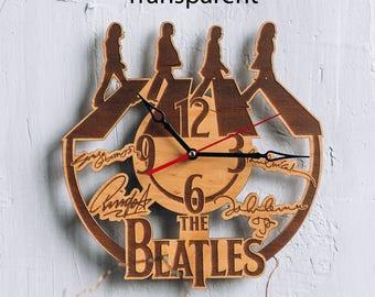John Lennon art clock Paul Mccartney print john lennon decor art print poster george harrison poster ringo starr beatles let it be