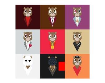 Kanye West Dropout Bear Poster Artwork