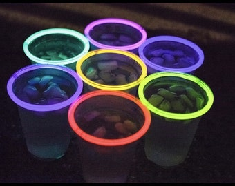 Glow Cups Glow Stick Cups 20ct 7-Colors Glow Party Glo Pro Cups