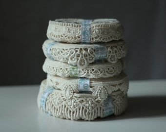 Organic Cotton Lace Trim crafted in Europe sample collection