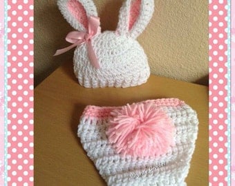 Beautiful Baby Rabbit set - Crochet