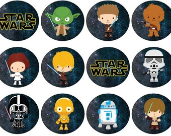 Star Wars Cartoon Cupcake Toppers
