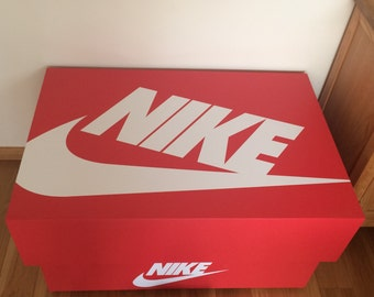 Oversized Nike Shoebox Storage Chest (16 pairs)