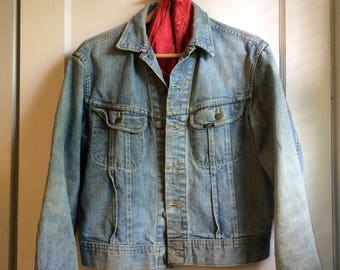 Vintage Lee denim jean jacket men's size medium