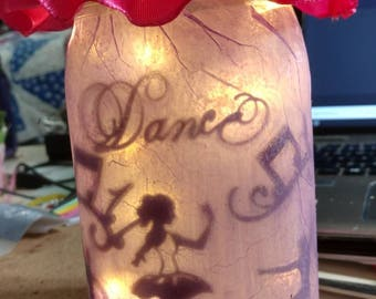 Ballerina Fairy Light with Floral Quilled Top