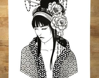 Geisha - A3 print